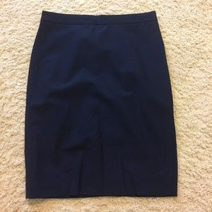 J. Crew Pencil Skirt Italian Two-way Stretch Wool